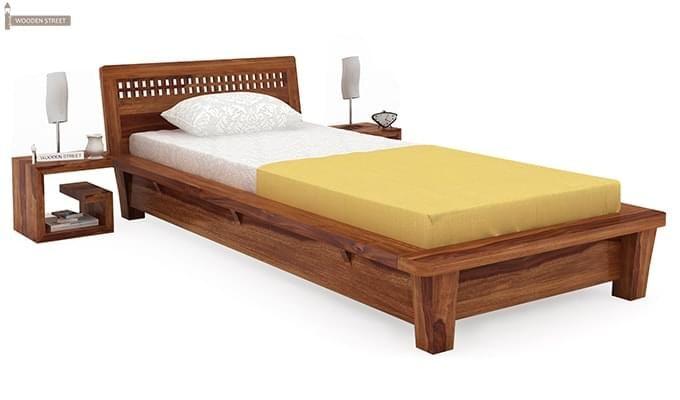 Carden Single Bed (Teak Finish)-1