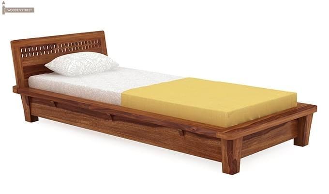 Carden Single Bed (Teak Finish)-2