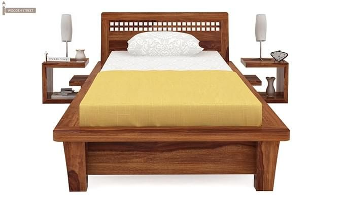 Carden Single Bed (Teak Finish)-3