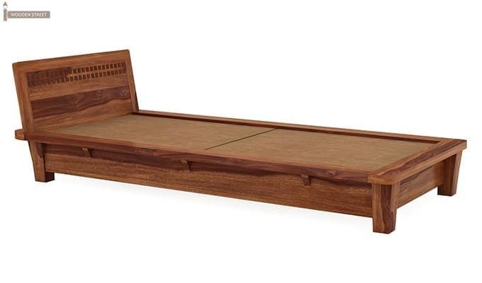 Carden Single Bed (Teak Finish)-4