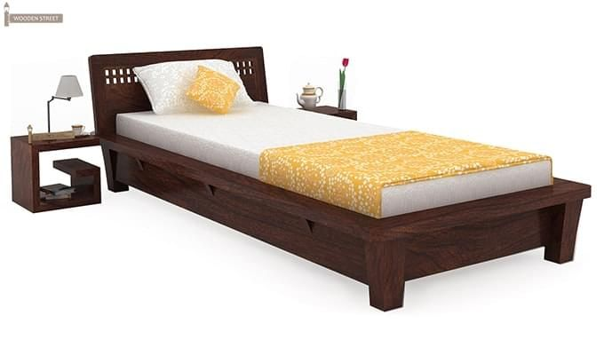 Carden Single Bed (Walnut Finish)-1