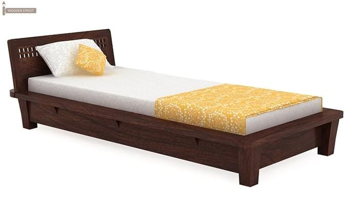Carden Single Bed (Walnut Finish)-2