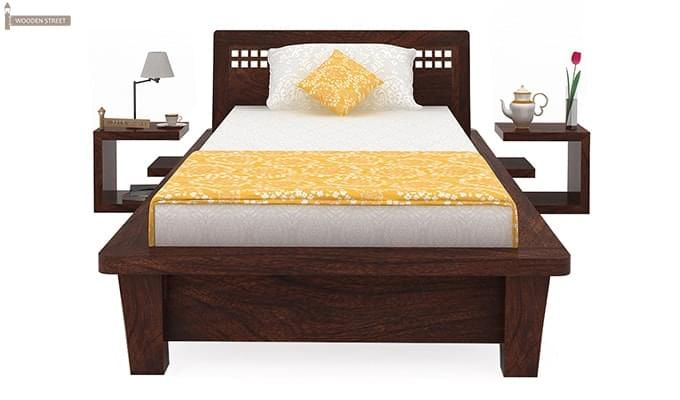 Carden Single Bed (Walnut Finish)-3