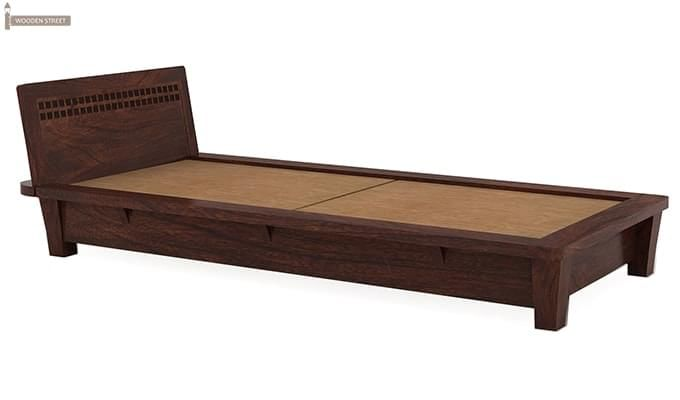 Carden Single Bed (Walnut Finish)-4
