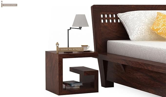 Carden Single Bed (Walnut Finish)-6