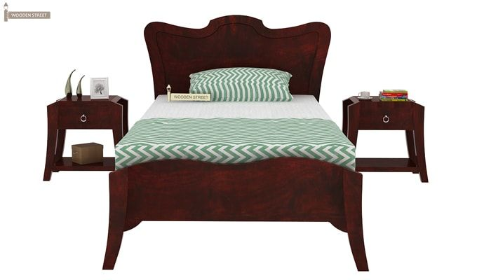 Cooper Single Bed (Mahogany Finish)-4