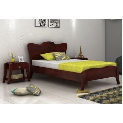 Cooper Single Bed (Mahogany Finish)