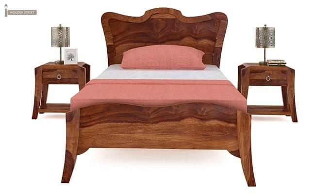 Cooper Single Bed (Teak Finish)-3