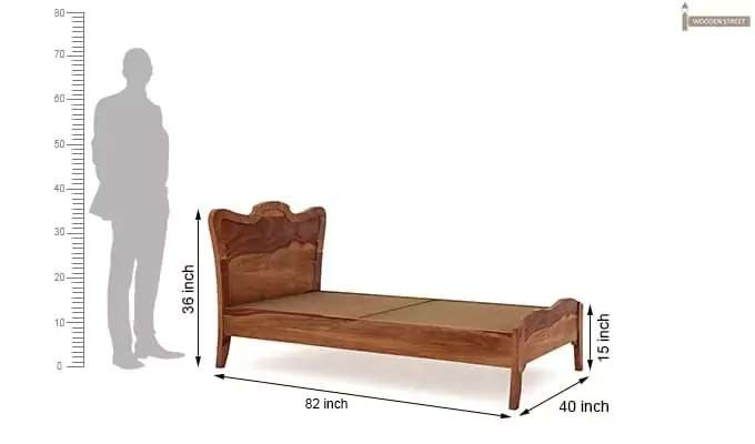 Cooper Single Bed (Teak Finish)-6