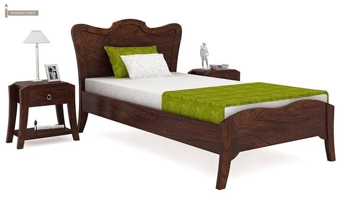 Cooper Single Bed (Walnut Finish)-1