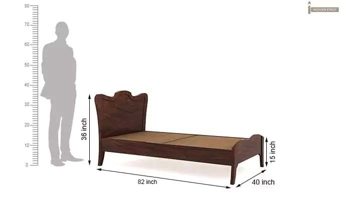 Cooper Single Bed (Walnut Finish)-7