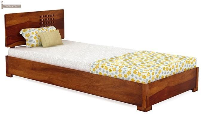 Damon Single Bed (Honey Finish)-2