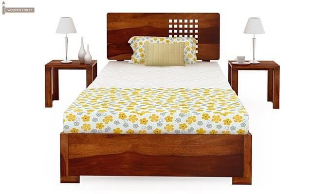 where to buy bed buy damon single bed honey finish in india 17800