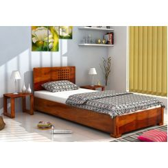 Damon Single Bed (Honey Finish)