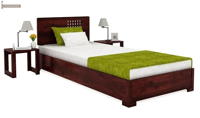 Damon Single Bed (Mahogany Finish)-1