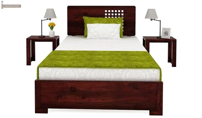 Damon Single Bed (Mahogany Finish)-3