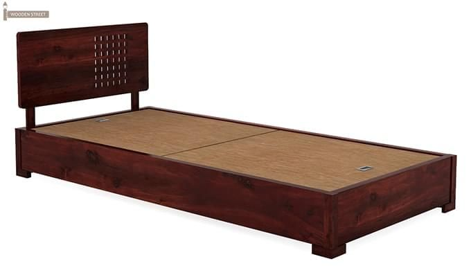 Damon Single Bed (Mahogany Finish)-4