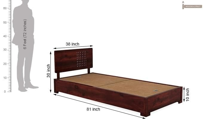 Damon Single Bed (Mahogany Finish)-6