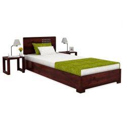 Damon Single Bed (Mahogany Finish)
