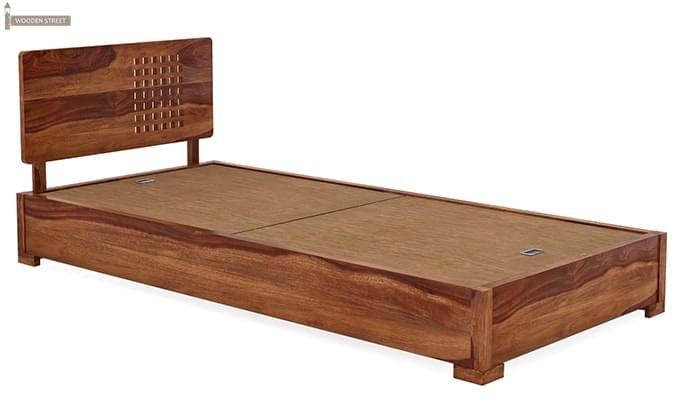 Damon Single Bed (Teak Finish)-4