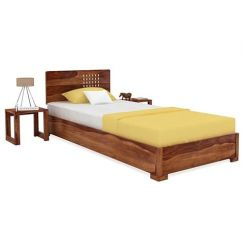 Damon Single Bed (Teak Finish)