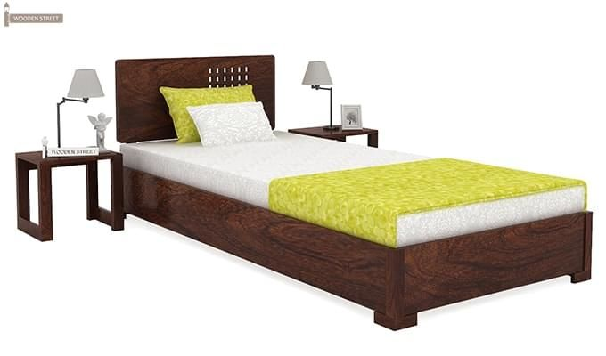 Damon Single Bed (Walnut Finish)-1