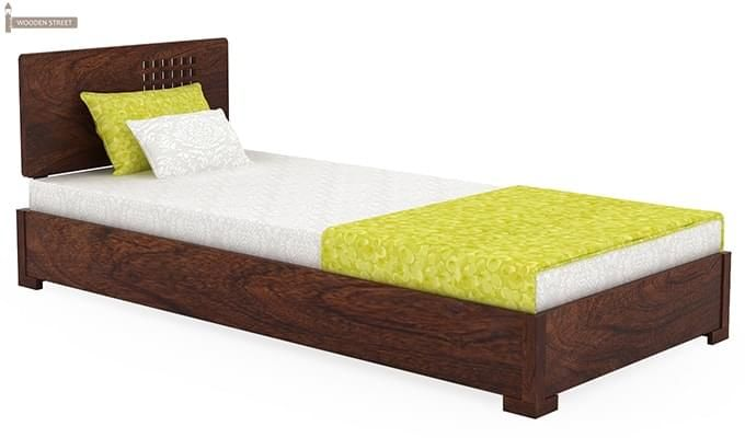 Damon Single Bed (Walnut Finish)-2