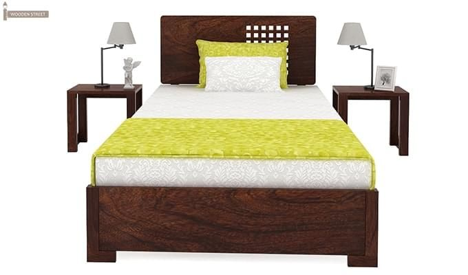 Damon Single Bed (Walnut Finish)-3