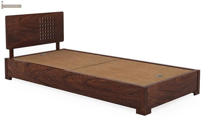 Damon Single Bed (Walnut Finish)-4