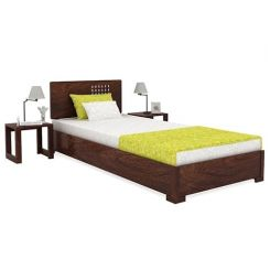 Damon Single Bed (Walnut Finish)