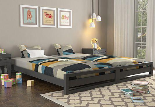 stackable bed online, mango wood kids beds