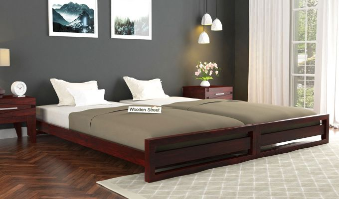 Darley Stackable Bed (Mahogany Finish)-1