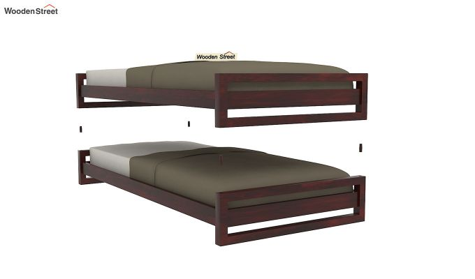 Darley Stackable Bed (Mahogany Finish)-5