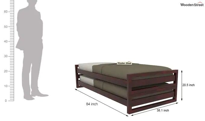Darley Stackable Bed (Mahogany Finish)-8