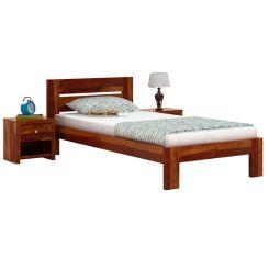 Denzel Single Bed Without Storage (Honey Finish)
