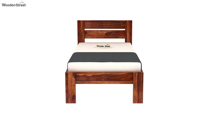 Denzel Single Bed Without Storage (Honey Finish)-5