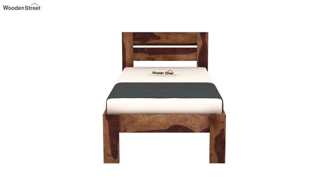 Denzel Single Bed Without Storage (Teak Finish)-5