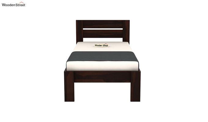 Denzel Single Bed Without Storage (Walnut Finish)-5