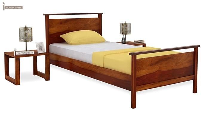Denzil Single Bed (Honey Finish)-1