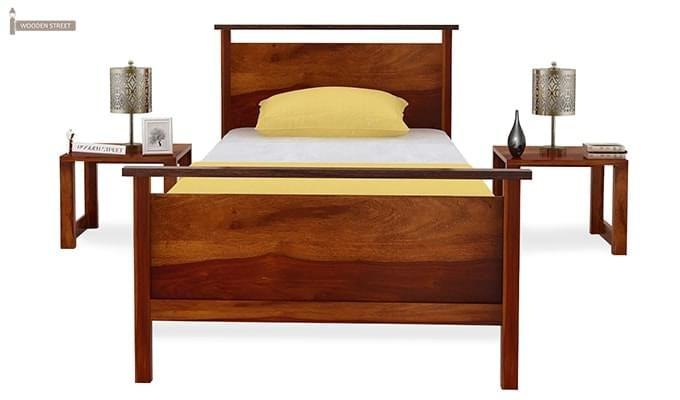 Denzil Single Bed (Honey Finish)-3