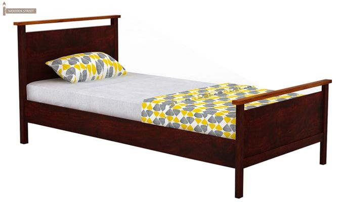 Denzil Single Bed (Mahogany Finish)-3