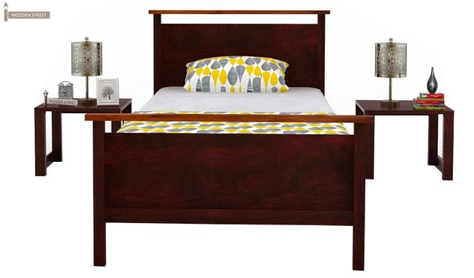 Denzil Single Bed (Mahogany Finish)-4