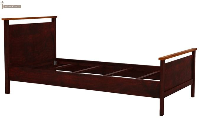 Denzil Single Bed (Mahogany Finish)-6