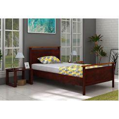 Denzil Single Bed (Mahogany Finish)