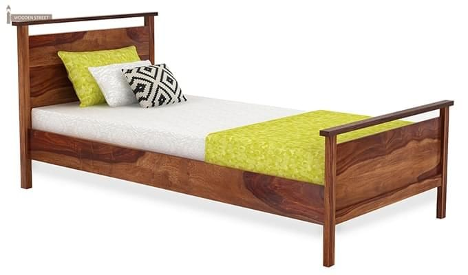 Denzil Single Bed (Teak Finish)-2