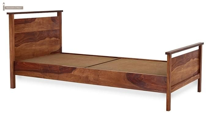 Denzil Single Bed (Teak Finish)-4