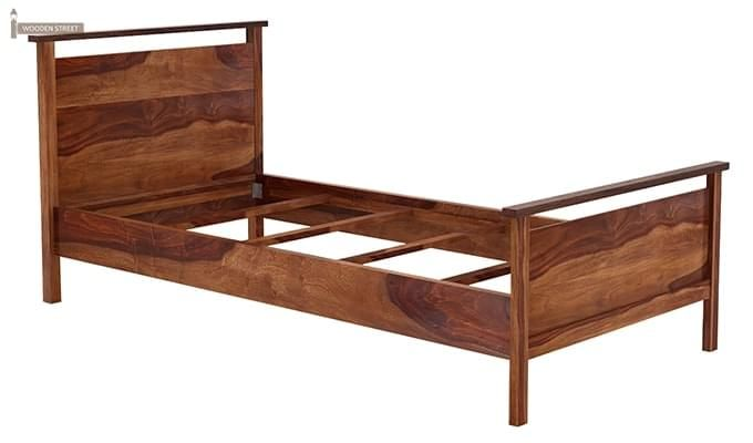 Denzil Single Bed (Teak Finish)-5