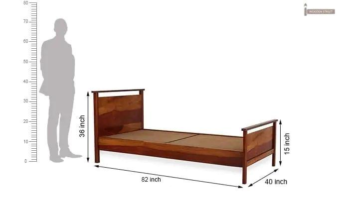 Denzil Single Bed (Honey Finish)-6
