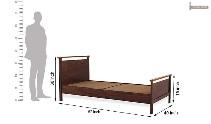 Denzil Single Bed (Walnut Finish)-6
