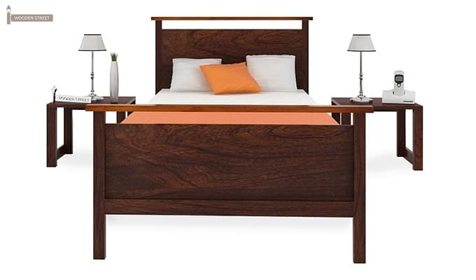 Denzil Single Bed (Walnut Finish)-3